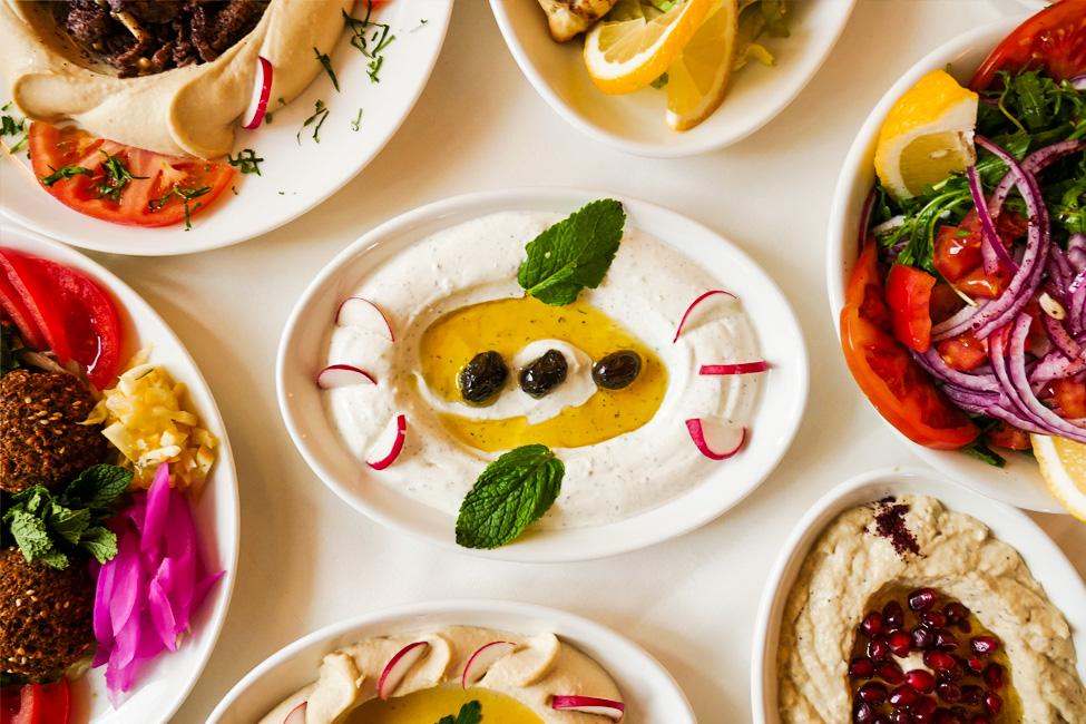 Libanesische Vorspeisen, Restaurant Baalbek, München